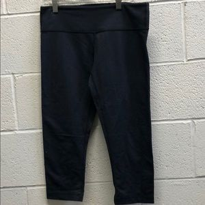 Lululemon blue faux denim cropped leggings sz 6